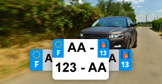 05 Hautes Alpes Departement Immatriculation 2 X Autocollants Sticker Auto